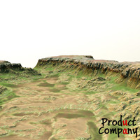 3d model hills cliffs terrain