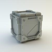 sci-fi cube 3d model