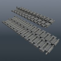 continuous track 3d model