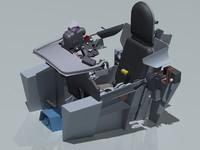 3ds max mig-15 cockpit