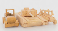 3d package wooden toy
