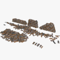 Firewood Type 1 Pack Low Poly