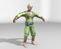 sci fi soldier 3d model