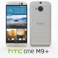 3d htc m9 silver gold model