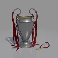 3d model 2005 champions league trophy