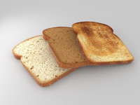 3d model bread slices