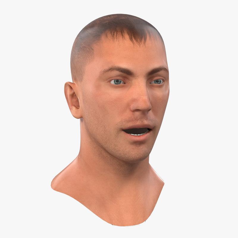 Caucasian Male Head Rigged 3d model 01.jpg