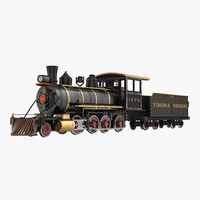3d model steam train wagon 4
