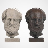 head sculpture aristoteles 3d max