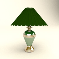 obj table lamp gold line