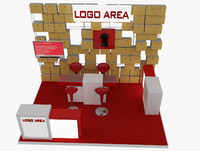 exhibition booth 3ds