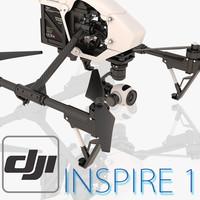 3d model of dji inspire 1