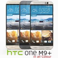htc m9 colour 3d model