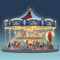 3d carousel carrousel model