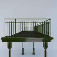 balustrade berliner style 3d obj