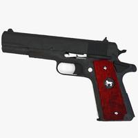 3ds max colt pistol gun