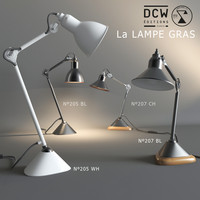 3d model table lamps la gras