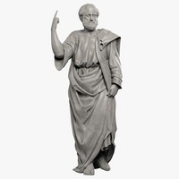 aristoteles sculpture 3d model