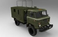 obj russian army truck 66