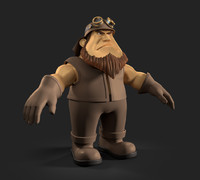 cartoon biker 3d obj