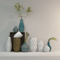 vases west elm linework 3d model