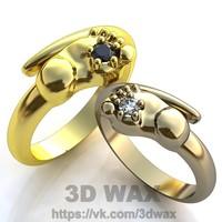 ring non standart 3d model