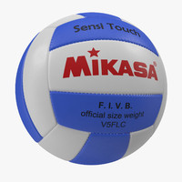volleyball ball 6 3d obj