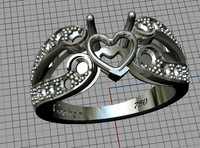 jewellery ring heart 3ds