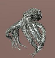 3d 3ds jewellery octopus