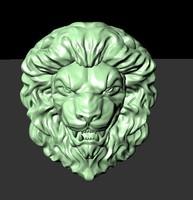 3ds max lion sculpture