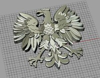 jewellery pendant eagle 3d 3dm