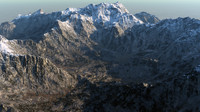 3d modeled mountains