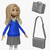 3d model sculpt student cartoon h1o2