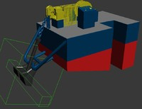 anchor barge 3d max