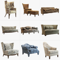 3d donghia sofas armchairs model