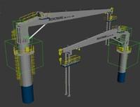 3d model norcrane crane