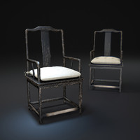 3d 17th-c-chinese-scholar-s-armchair model