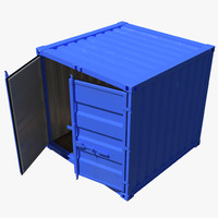 8 ft storage container 3d 3ds