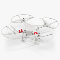 3ds max dji phantom 2 quadcopter