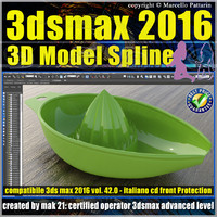 3ds max 2016 3D Model Spline v.42 Italiano cd front