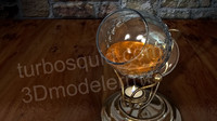 3d model crystal decanter cognac warmer