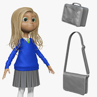 sculpt student cartoon h1o2 3d obj