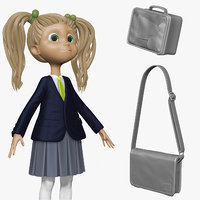 3d model sculpt student cartoon h2o1