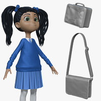 3d sculpt student cartoon h2o2 model