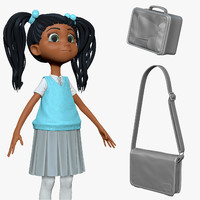 sculpt student cartoon h2o3 3d obj