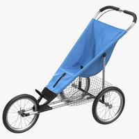 jogging stroller 3d model
