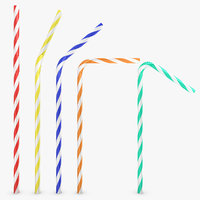 3d drinking straw 5 pose