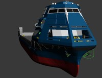 cargo ship stealth 3d max