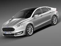 2015 sedan mondeo 3d model