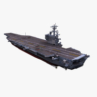 3d max uss aircraft carrier
